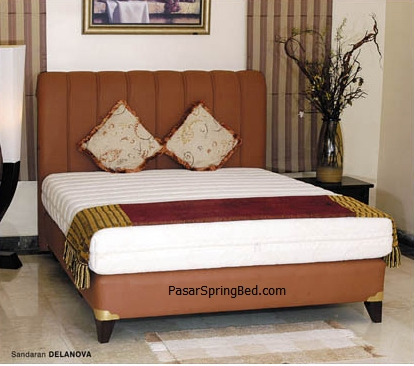 UNILAND LATEX Rebonded Spring Bed Headboard Delanova- toko springbed jual springbed harga springbed murah dijual springbed
