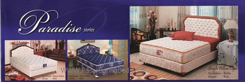 UNILAND Paradise - Headboard Kayu Polos Kayu Ukir Bella Divan Box Spring Bed - toko springbed jual springbed harga springbed murah dijual springbed